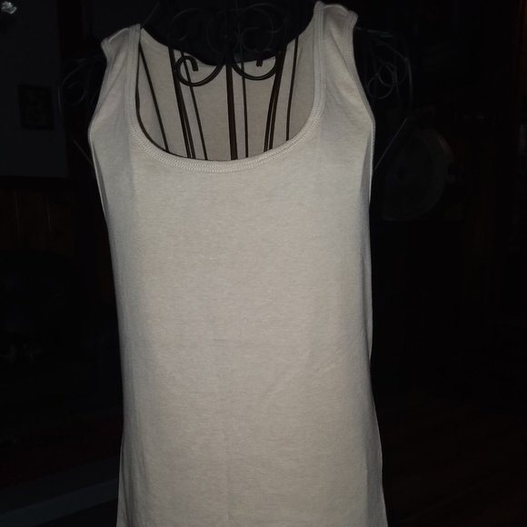 attention Tops - Beige tank top
